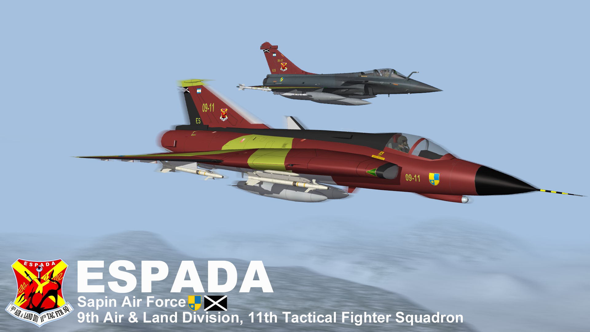 J-35J Draken & Rafale-M Espada Team (Ace Combat Zero)