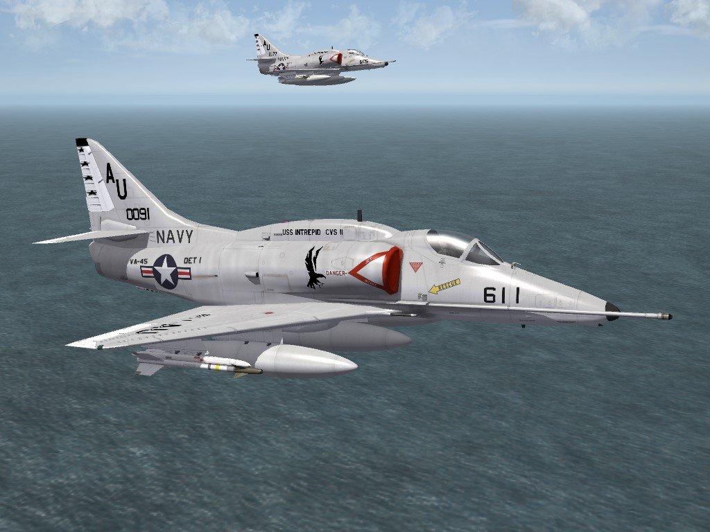SF2 A-4E (67) Skyhawk VA-45 Skin/Decals Pack