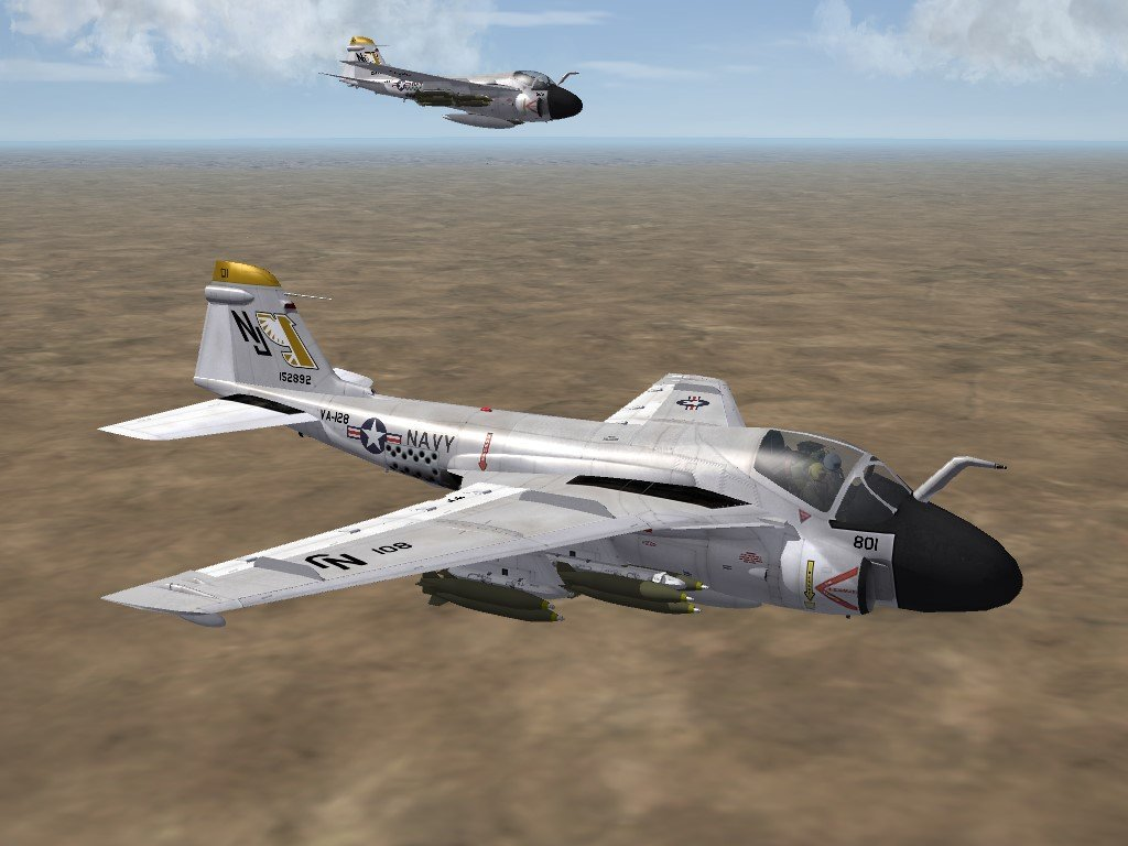 SF2 A-6A Intruder, VA-42 & VA-128 Skin/Decals Pack