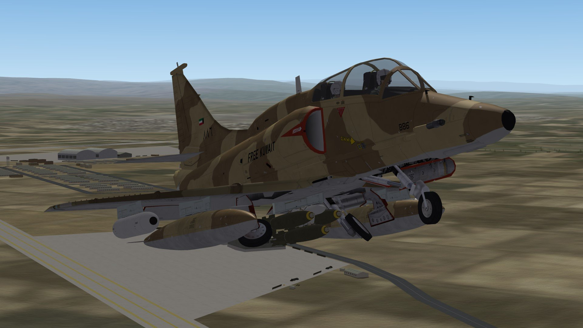 Kuwaiti Skyhawks - A-4KU/TA-4KU for SF2