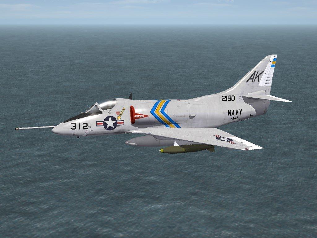 SF2 A-4B Skyhawk VA-12 Skin/Decals Pack