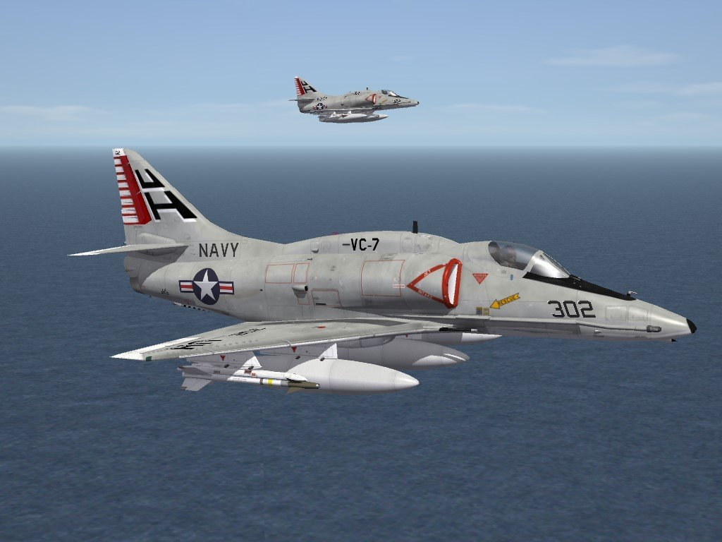 """SF2 A-4 Skyhawk """"Southland Scooters"""" Skin/Decals Pack"""