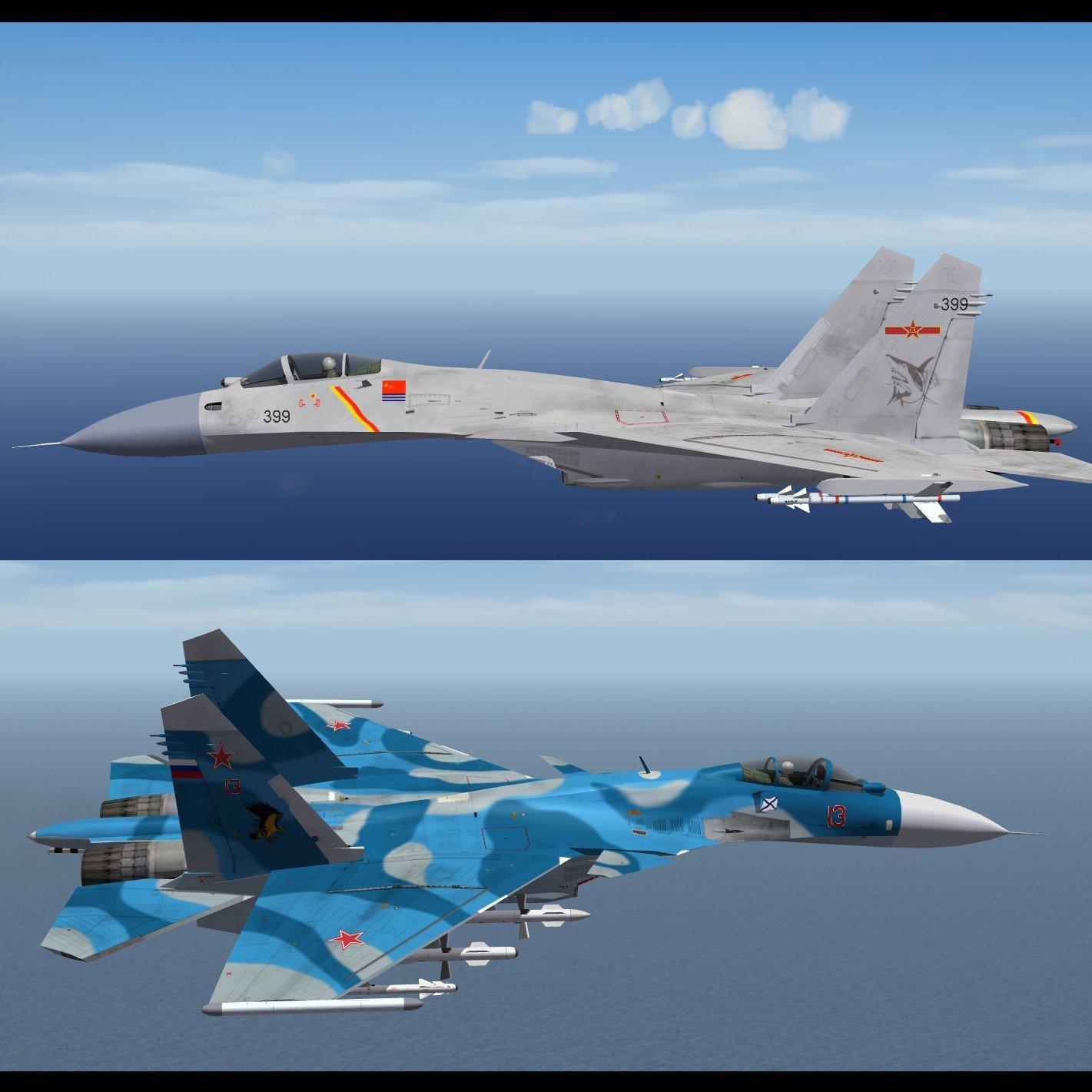 Su-33 SKINS and INIs