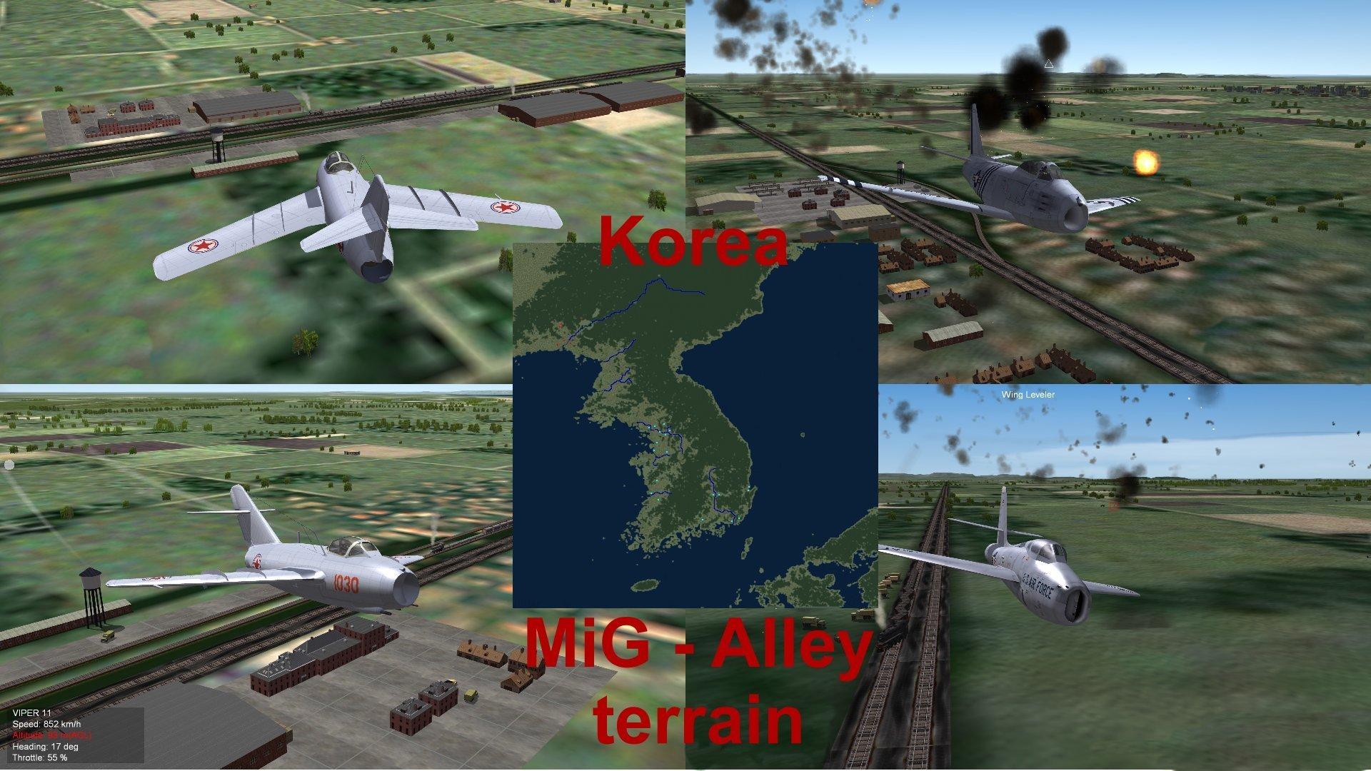 Korea MiG-Alley terrain