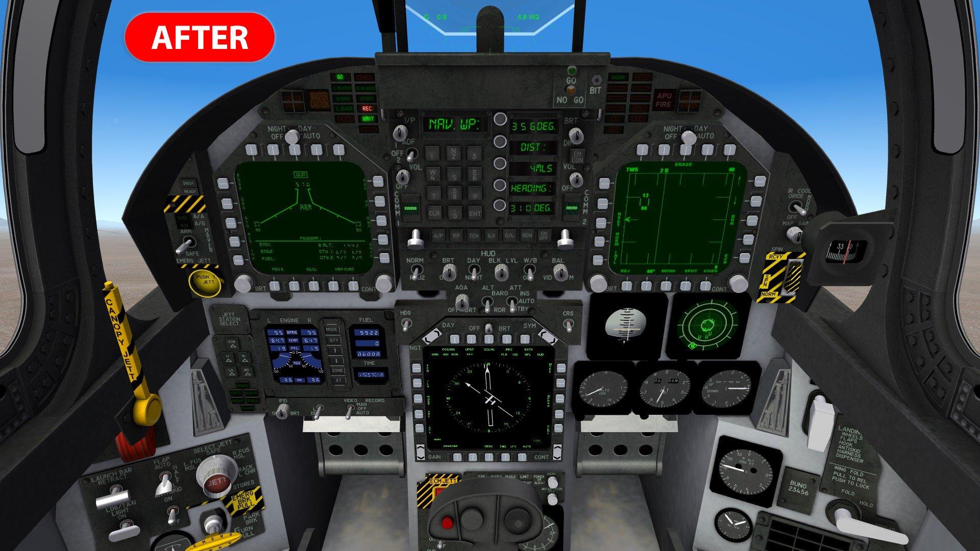 Cockpit Moving Map Delete Background
