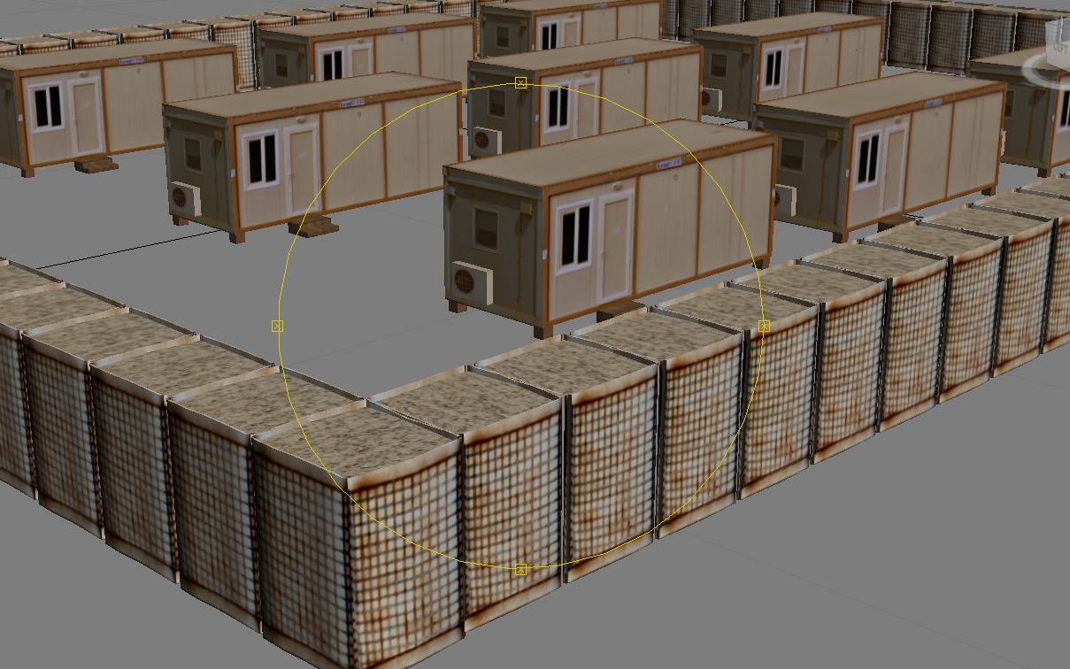 Chu containers & HESCO WALL