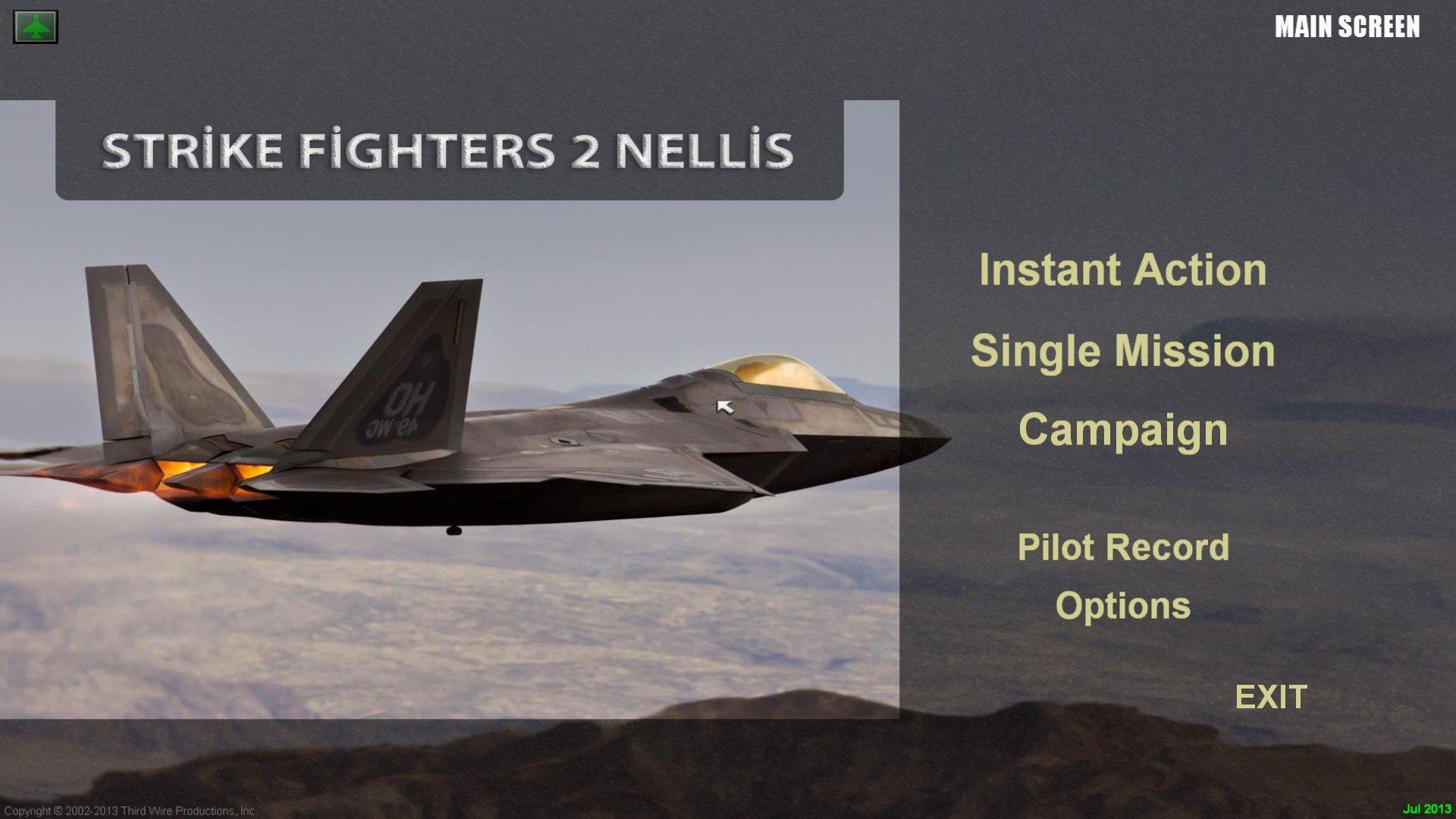Strike Fighters 2 Nellis / Nevada 1920x1080 Menu Screens