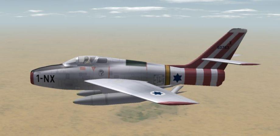 "F-84F of EC 1/1 ""Corse"", Suez Crisis 1956"