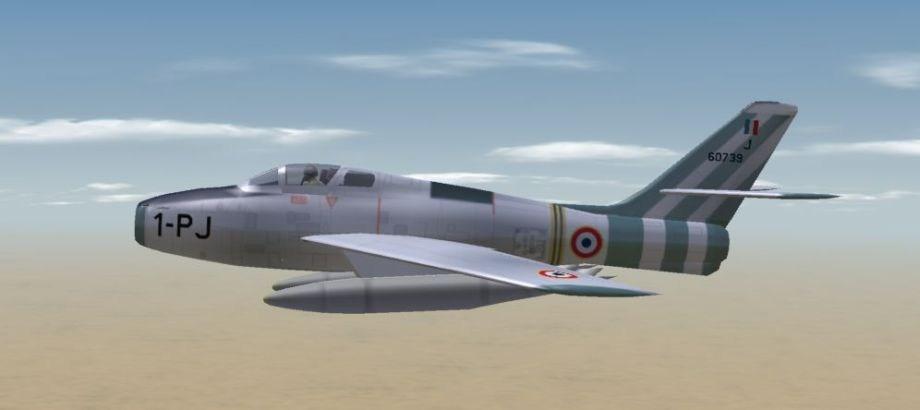 """F-84F of EC 3/1 """"Argonne"""", Suez Crisis 1956"""