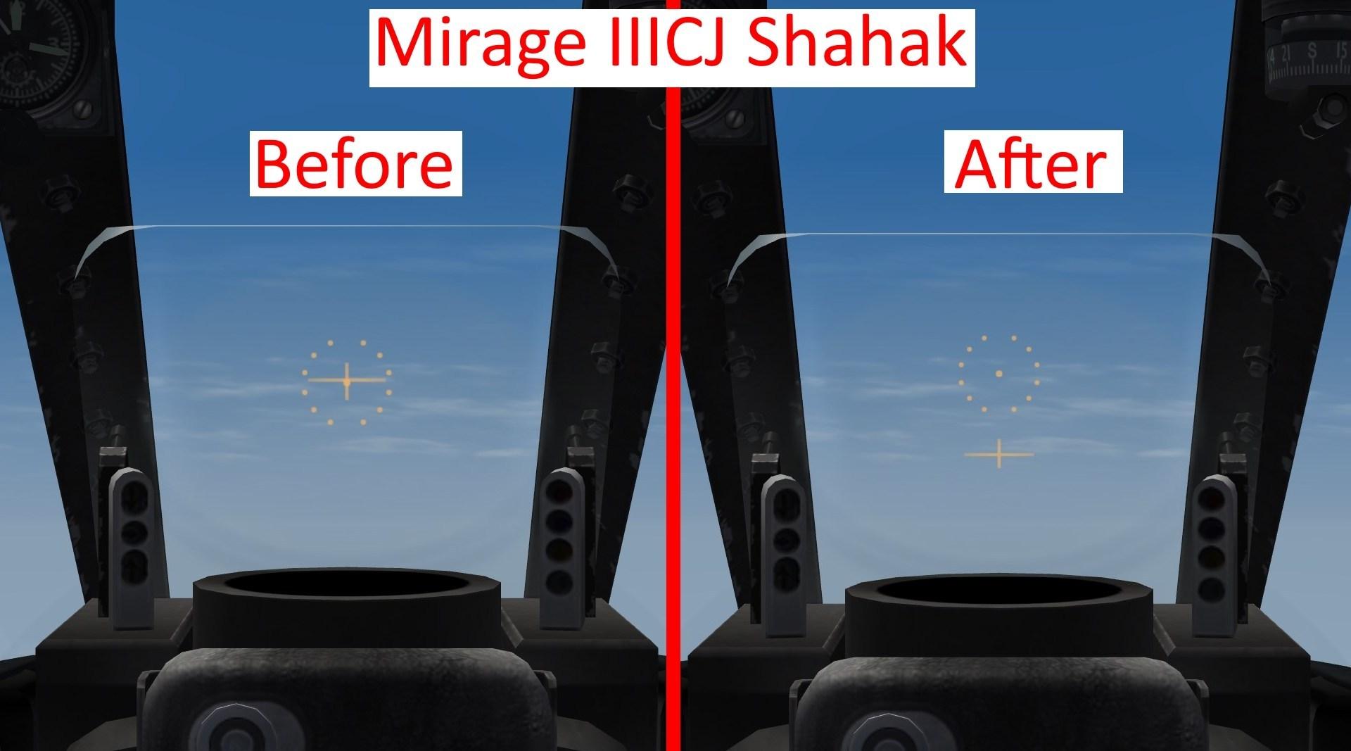 Mirage III & Nesher Gun Sight Fix.