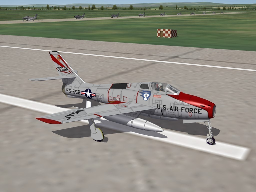 SF2 F-84F Thunderstreak by The Mirage Factory