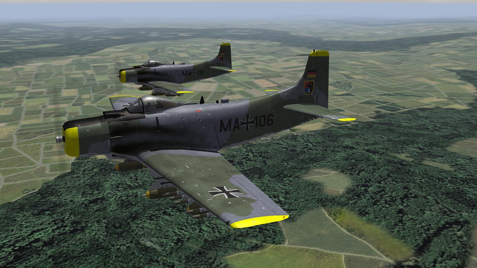 Douglas A-1G Skyraider Deutsche Luftwaffe