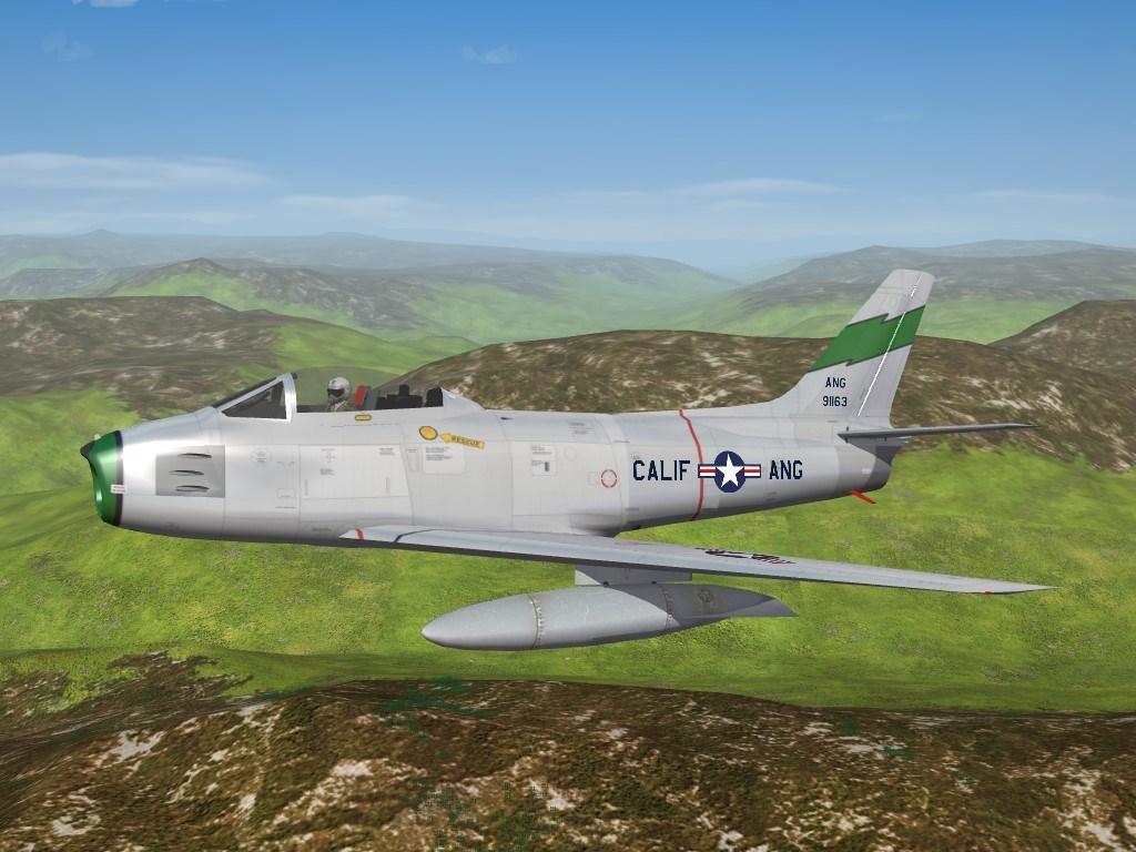 SF2 F-86A Sabre, 115th FIS, California ANG Skin Pack
