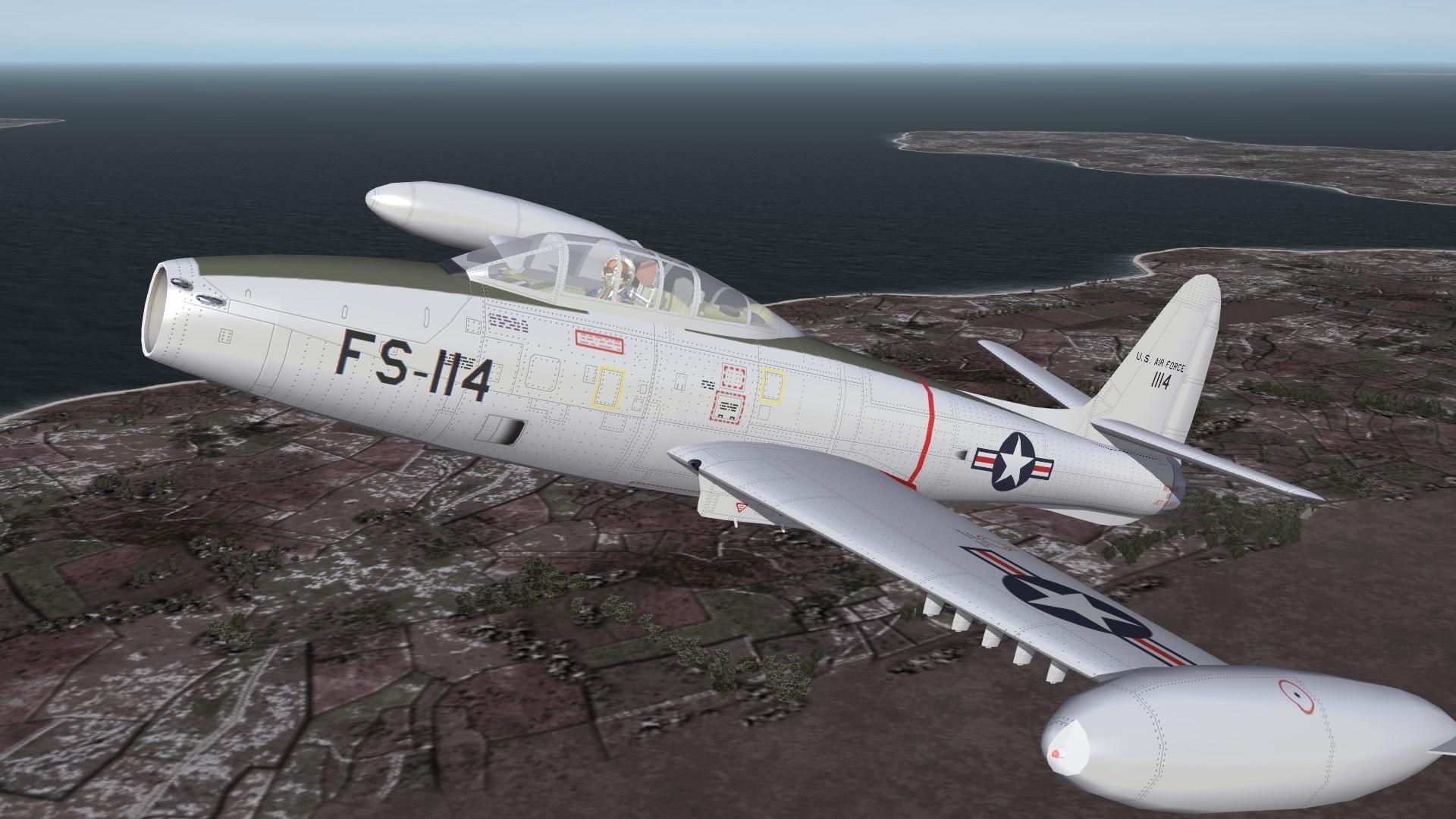 F-84E/G Thunderjet Redrawn Lines, Rivets, etc..