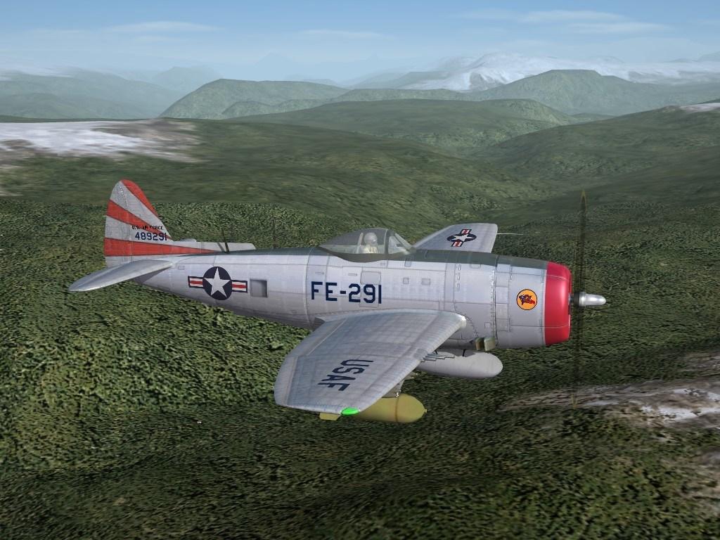 "SF2 P-47N Thunderbolt 36th FBS, KAW ""What If"" Skin Pack"