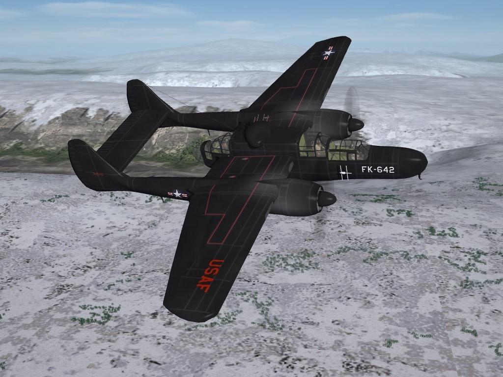 SF2 P/F-61B Black Widow, 319th F(AW)S Skins Pack Post-WW2