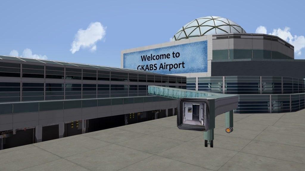 Civilian Airport 7 separate models terminals, gates