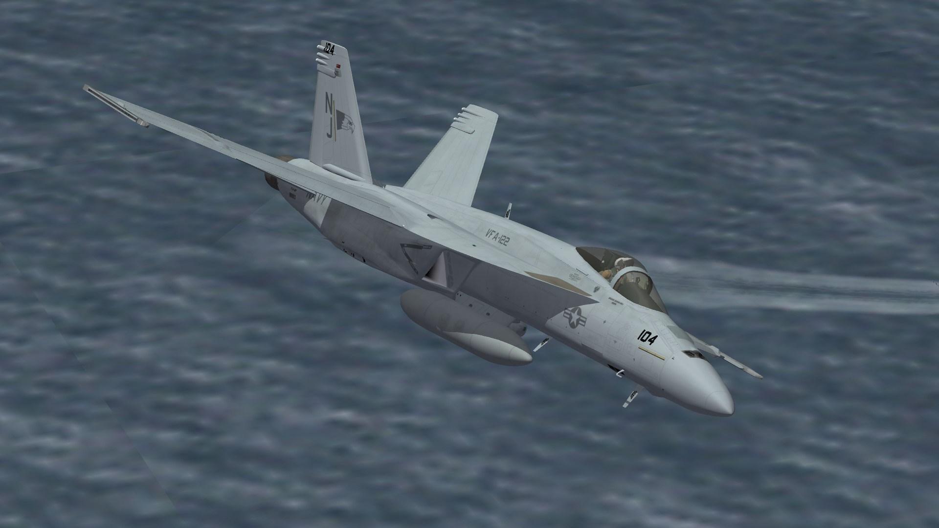 """F/A-18E VFA-122 """"Line"""""""