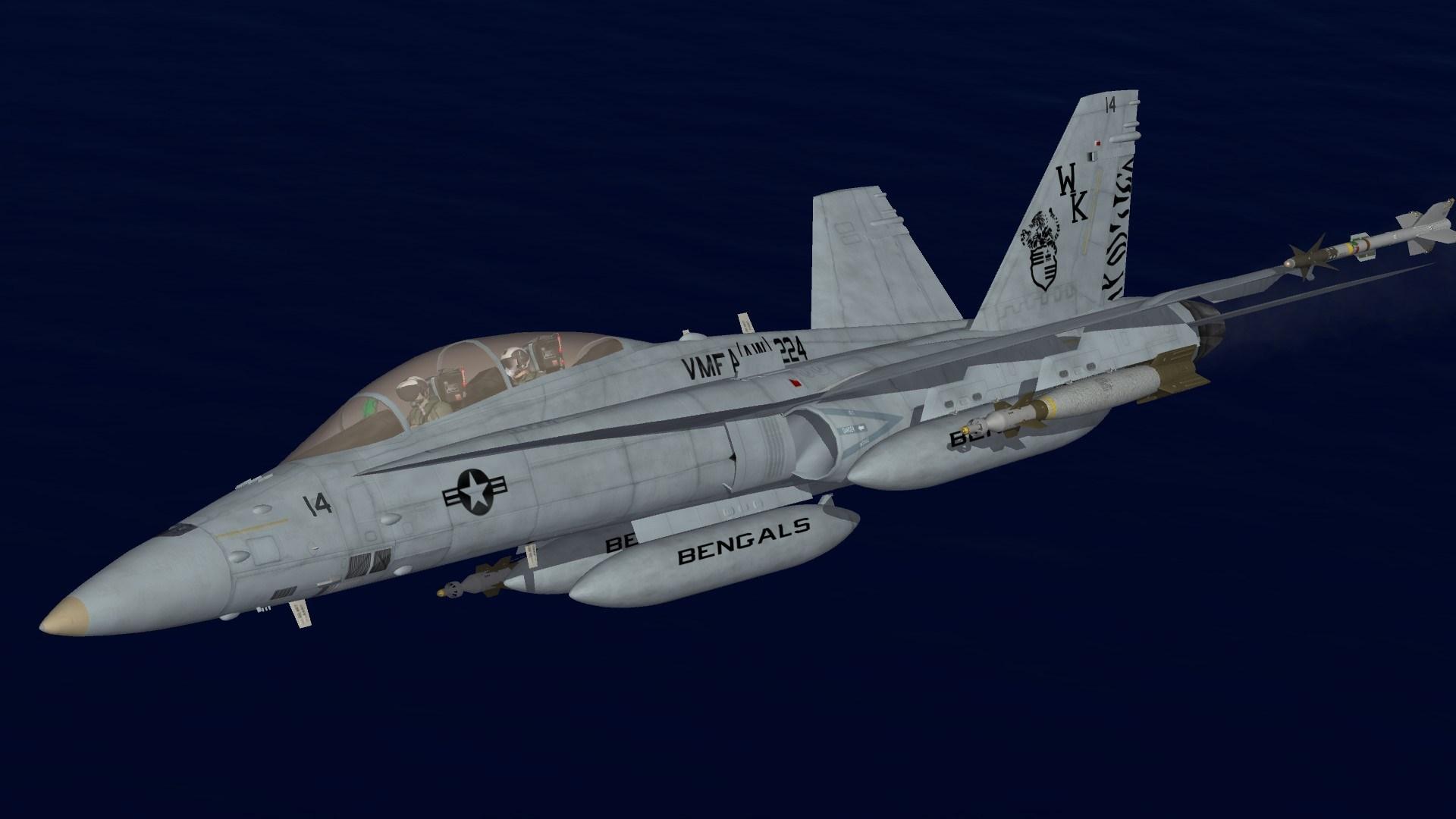 F/A-18D VMFA(AW)-224 Line