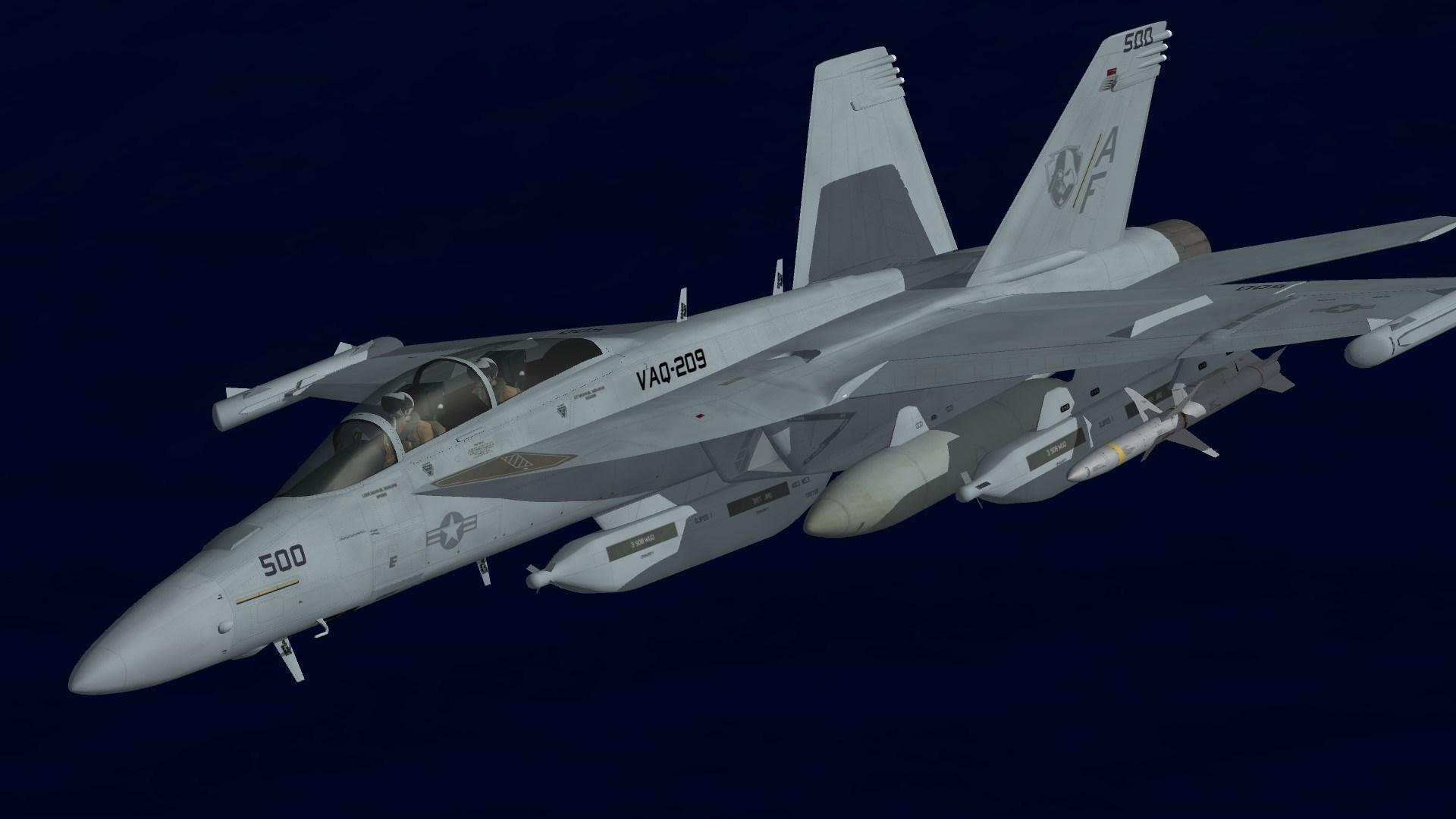 EA-18G VAQ-209 Line Jet
