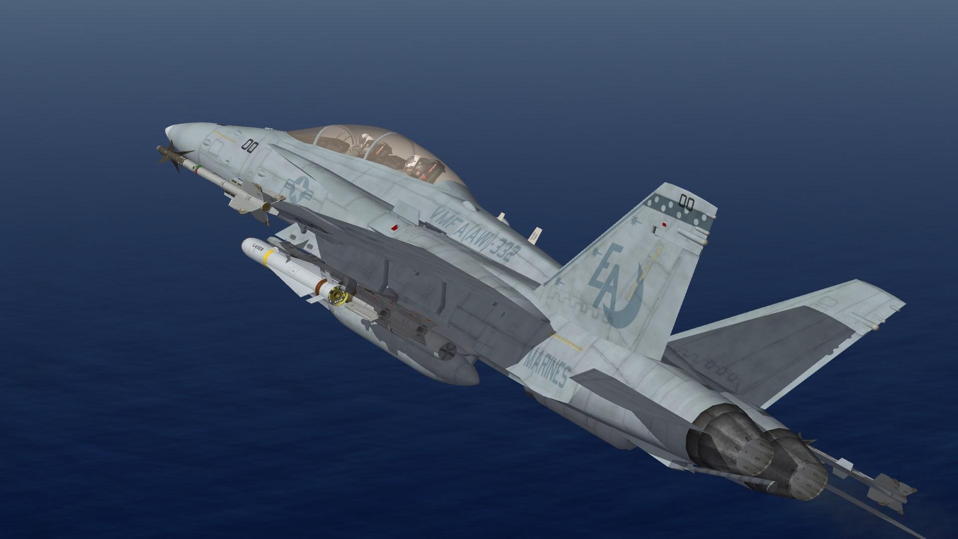 F/A-18D VMFA(AW)-332 Line