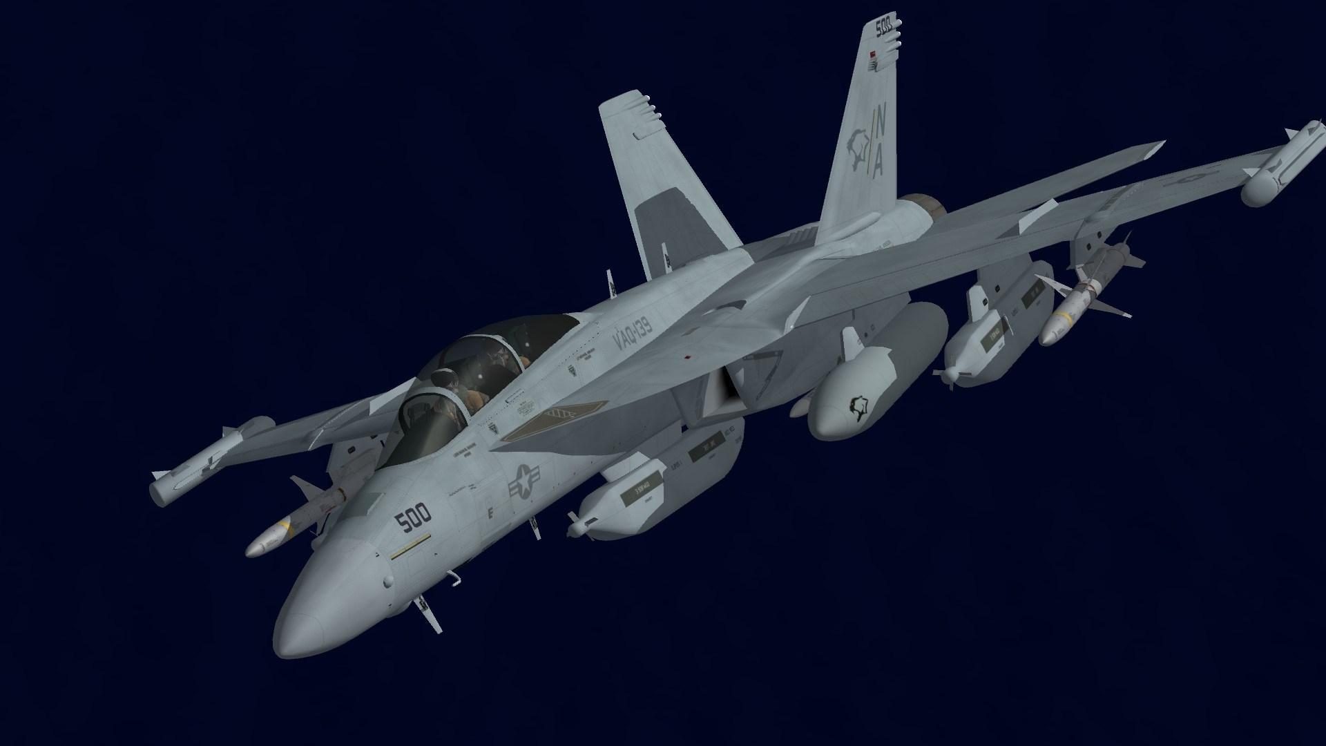 EA-18G VAQ-139 Line Jet