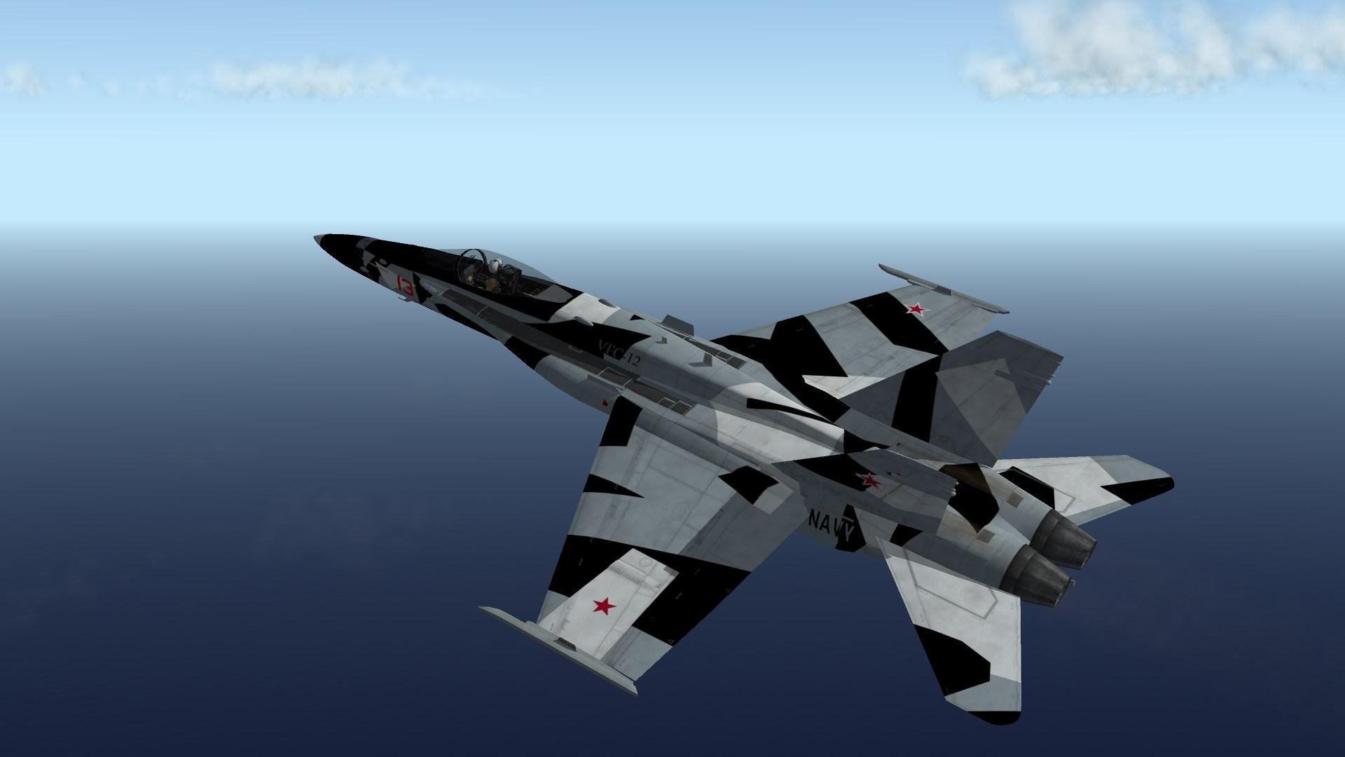 F/A-18C VFC-12 Black and White Splinter Scheme