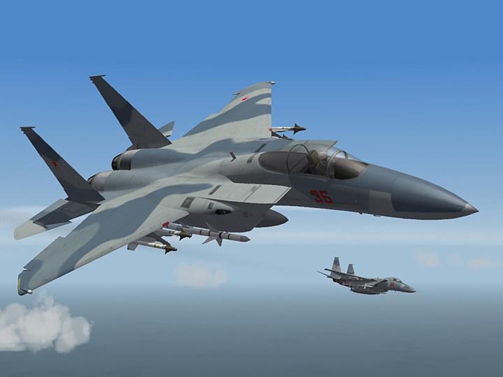 Aggressor Camo Skin for F-15A Eagle (fictional)