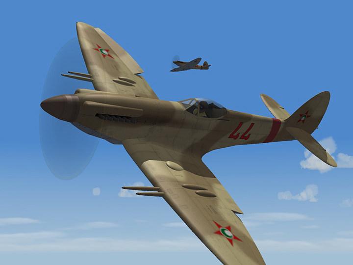 Mercenary Sand Skin for Spitfire 22 (fictional)