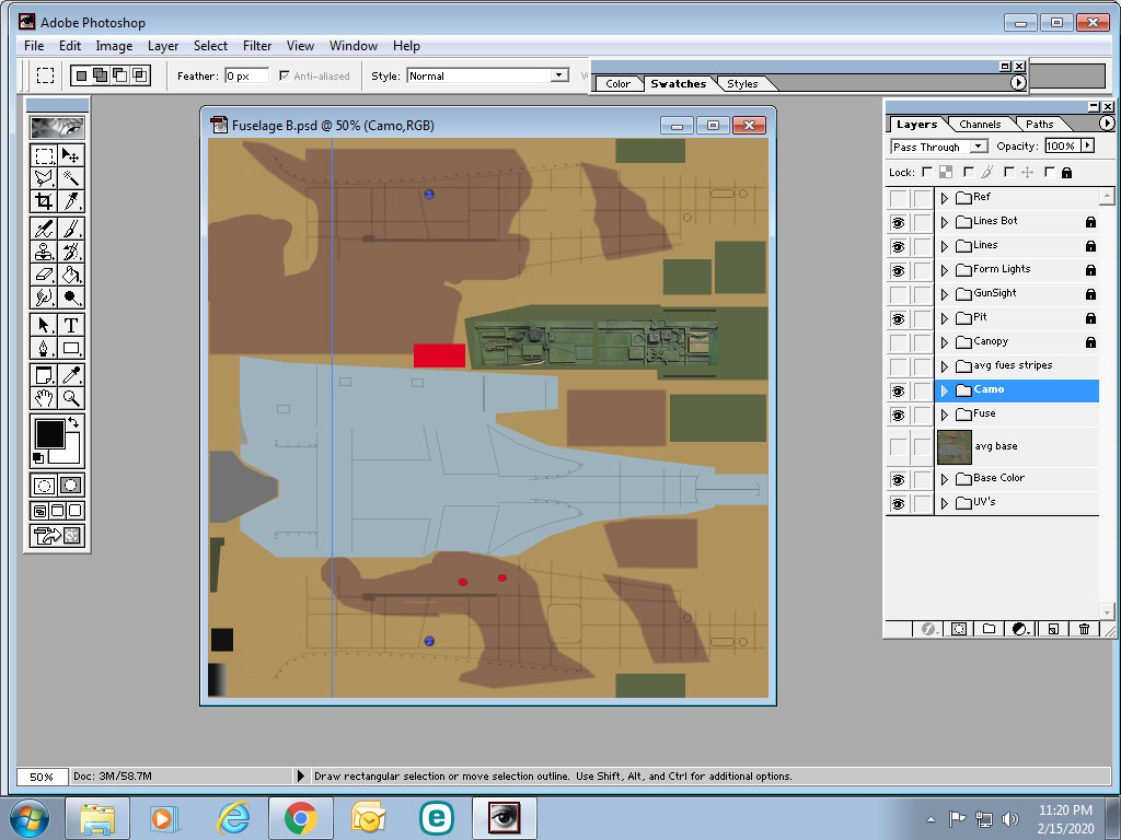 Template for P-40B/C & Tomahawk by Raven