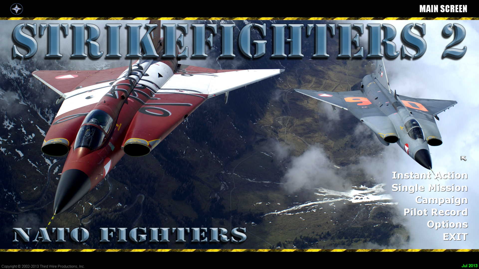 Strikefighters2 NATO Fighters 5 Hi-Res 1920x1080 Menu Screens and Music!