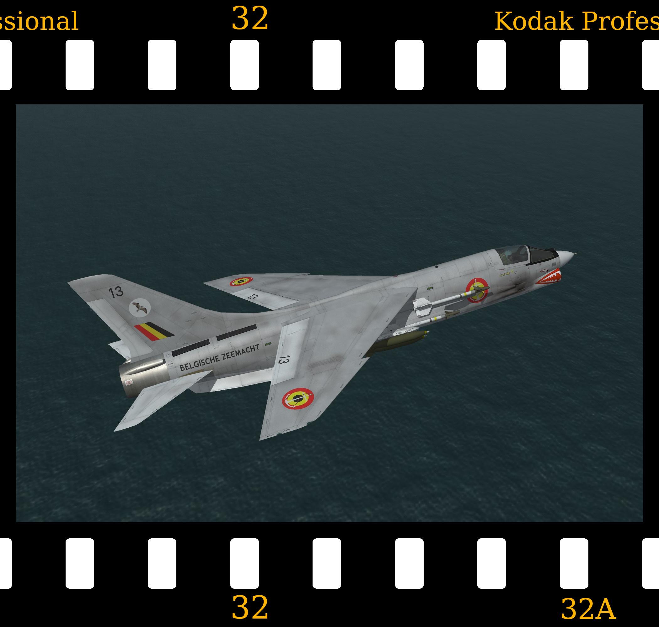 [Fictional] Vought F-8E 'BZ' Crusader 'Belgium'