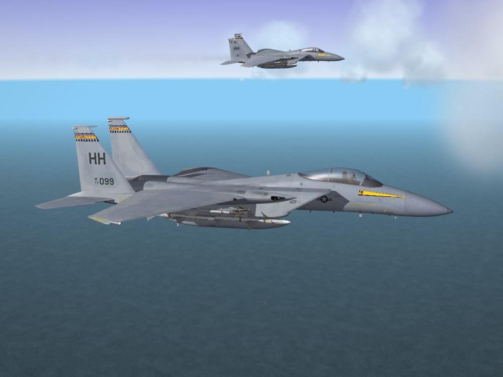SF2 F-15A Eagle, (3W) Hawaii Air National Guard Skin Pack