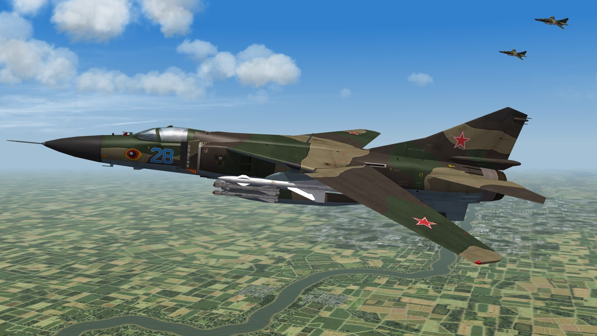 Third Wire MiG-23 fighters madeflyable & updated for SF2