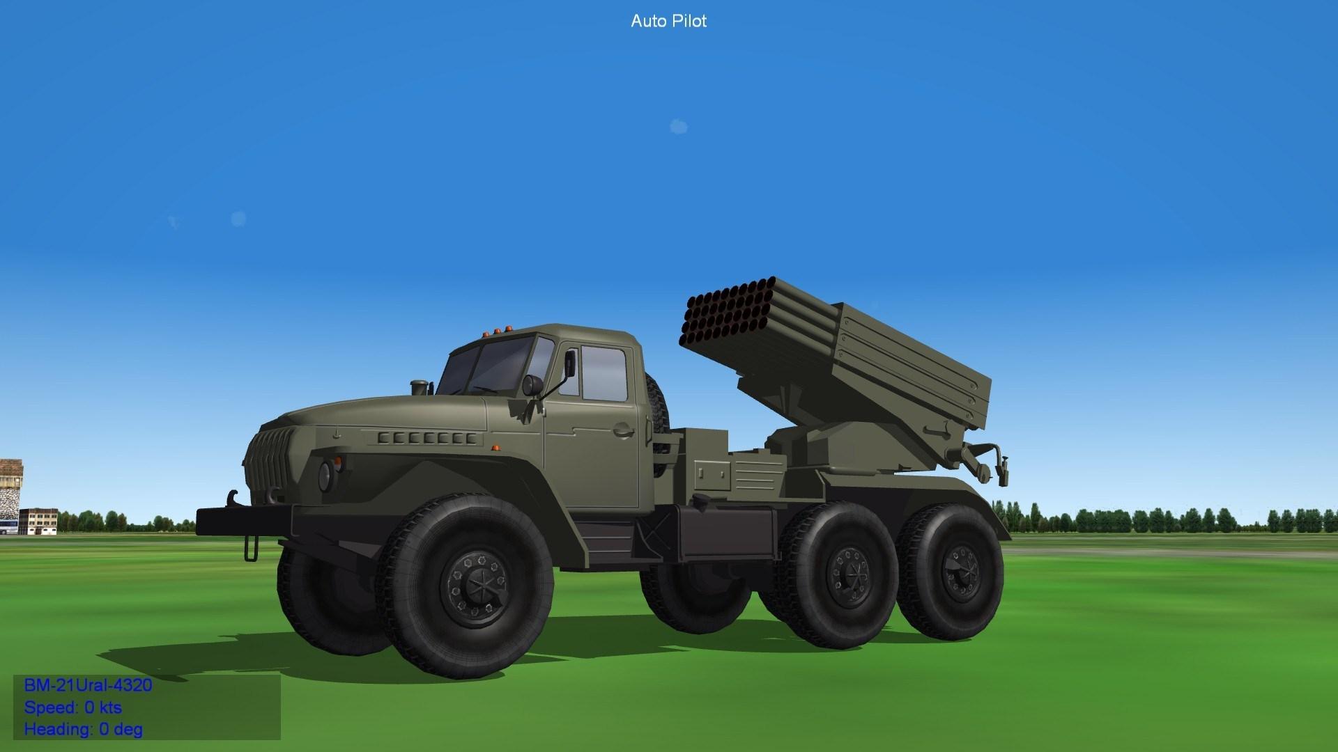 BM-21 Grad on Ural Track