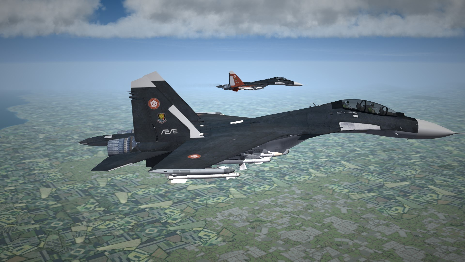 ACE7 SOL Squadron Skin for Su-30SM by frtn(SOL1 inclued)