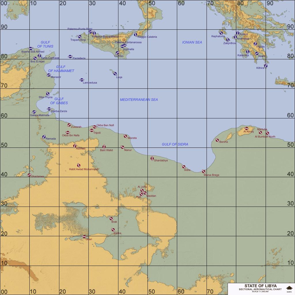 Libya, Central Mediterranean (1980-2011)