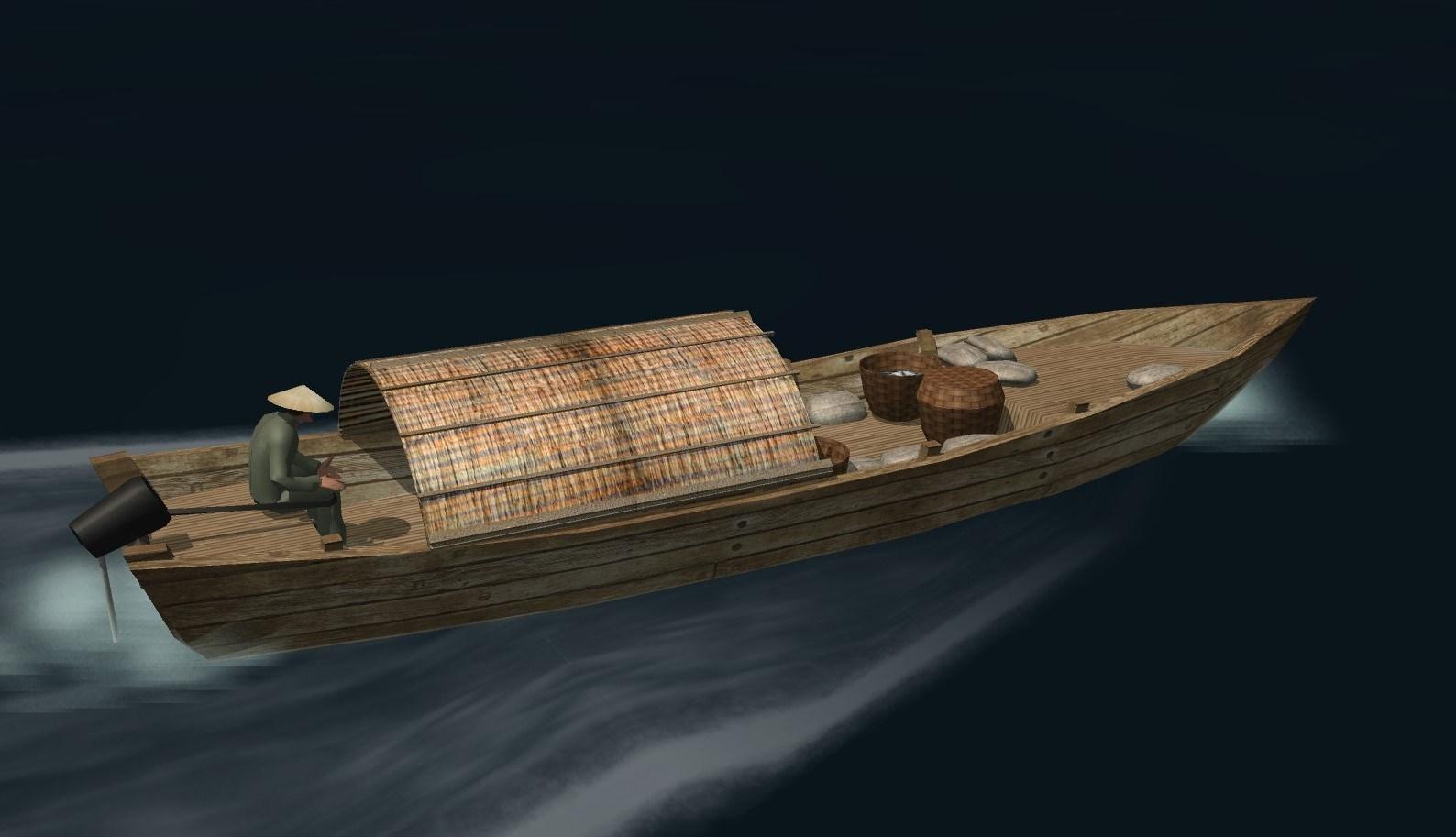 Ha-Long longboat