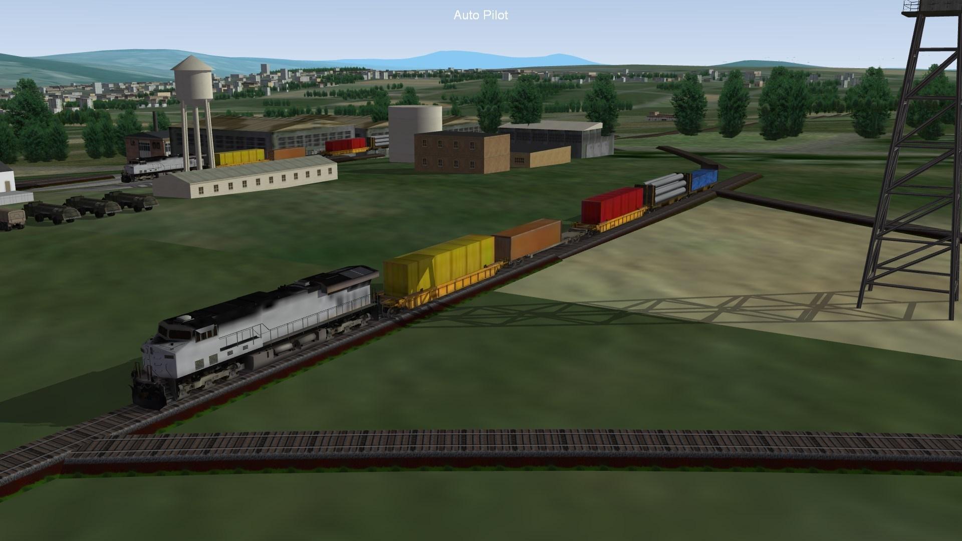 Modern Diesel-Electric Train
