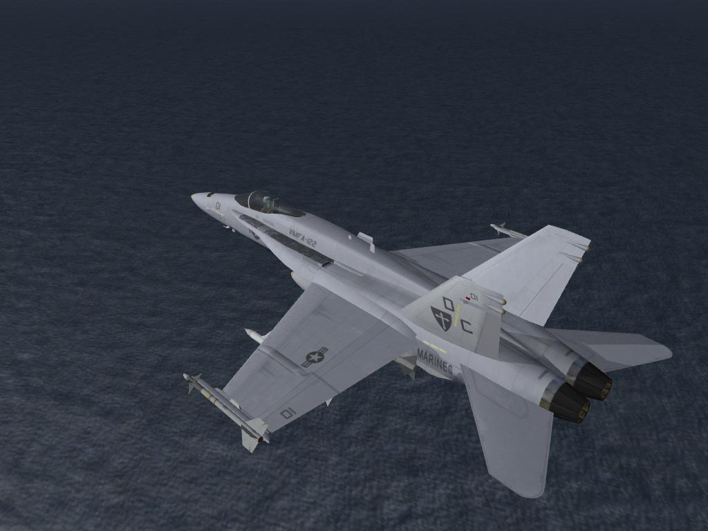 F/A-18A's in flight