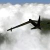 B-52D over clouds