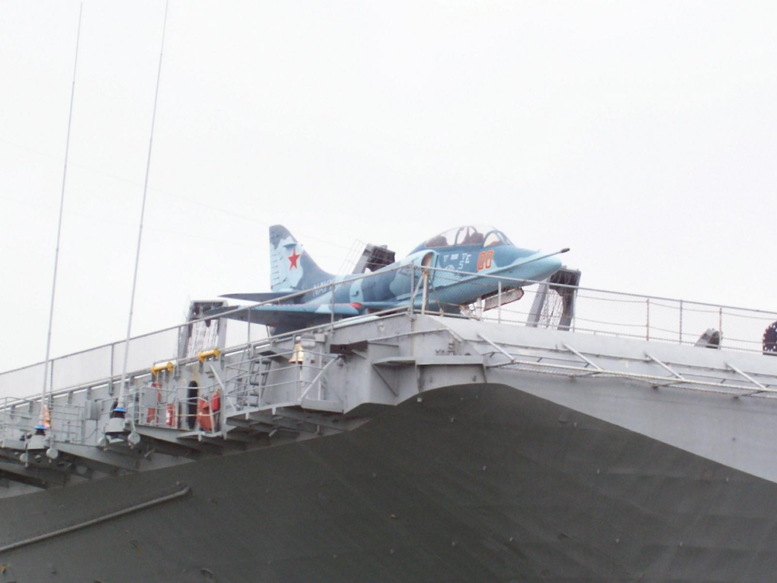 USS Hornet A-4 on Deck