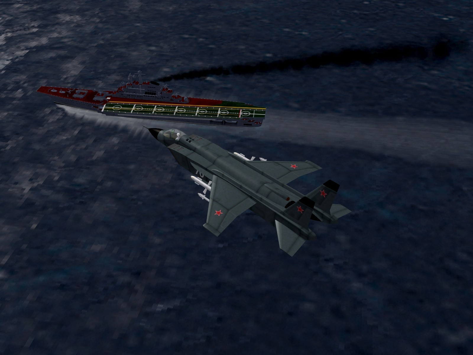 Yak-141M Flying over the Kiev
