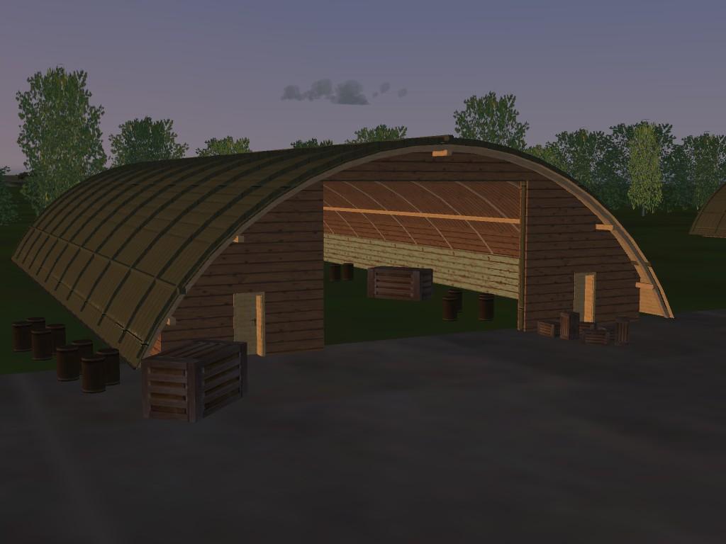 High poly hangar