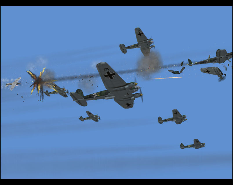 Attacking German Bomber Formation