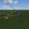 F-5EM's landing