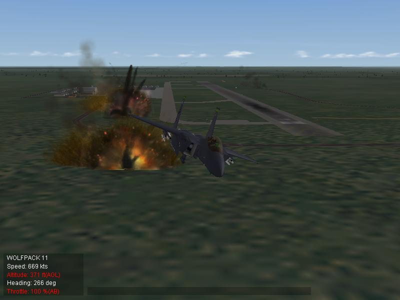 F-15E low-alt-pass