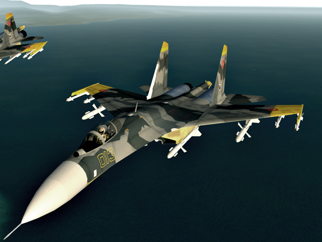 Yellow SQ Su-27