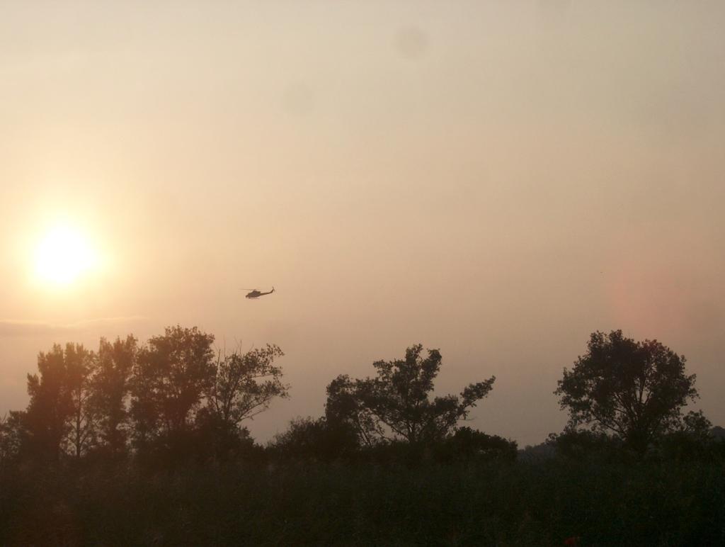 AF1@LKPR: police Bell 412HP silhouette