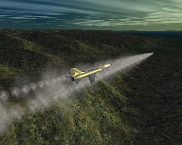 Su-7  rocket attack